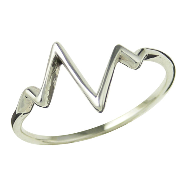 Sterling Silver Heartbeat Ring