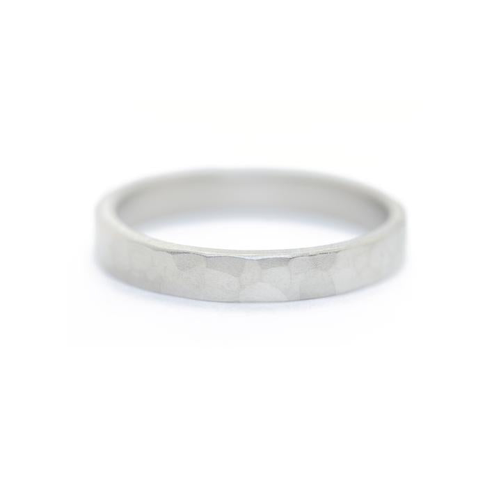 Mens Imperial Narrow Hammered Band