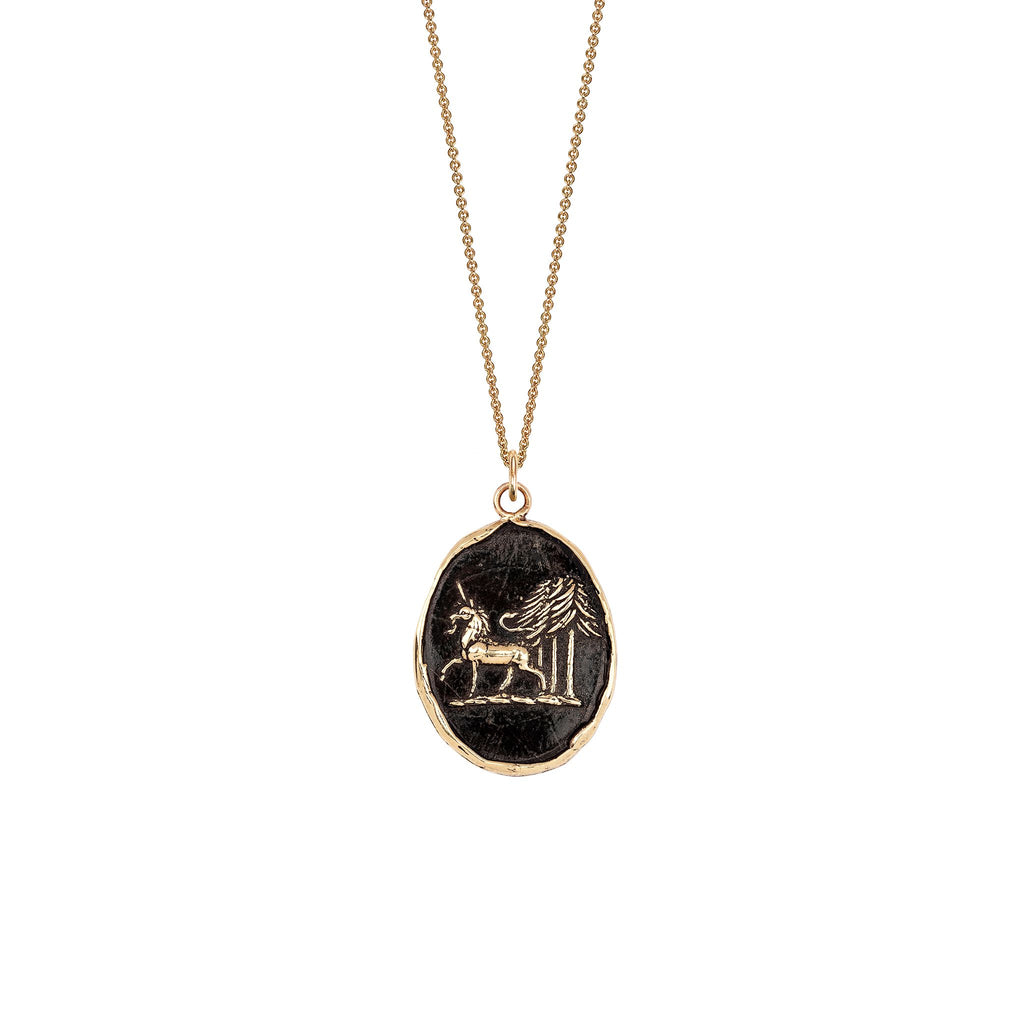 Unicorn in the Forest Talisman 14k Gold Collection