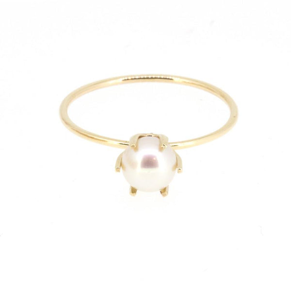 5mm Pearl Solitaire Ring