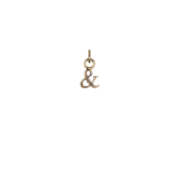 Ampersand 14K Gold Charm | Magpie Jewellery