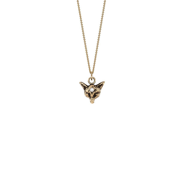 Fox 14k Gold Diamond Set Talisman | Magpie Jewellery