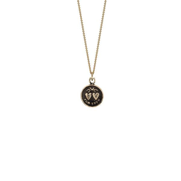 Hearts 14k Gold Talisman