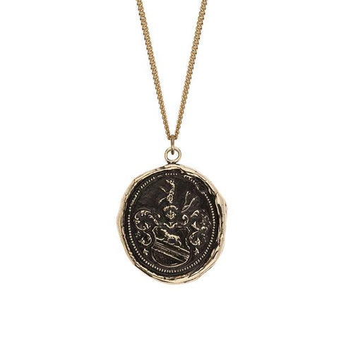 Heart of the Wolf 14k Gold Talisman