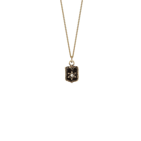 Look Within 14k Gold Diamond Set Talisman | Magpie Jewellery