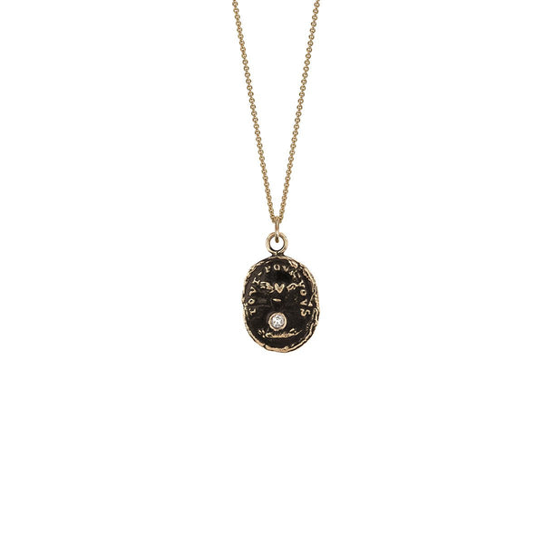 Winged Heart 14k Gold Diamond Set Talisman | Magpie Jewellery