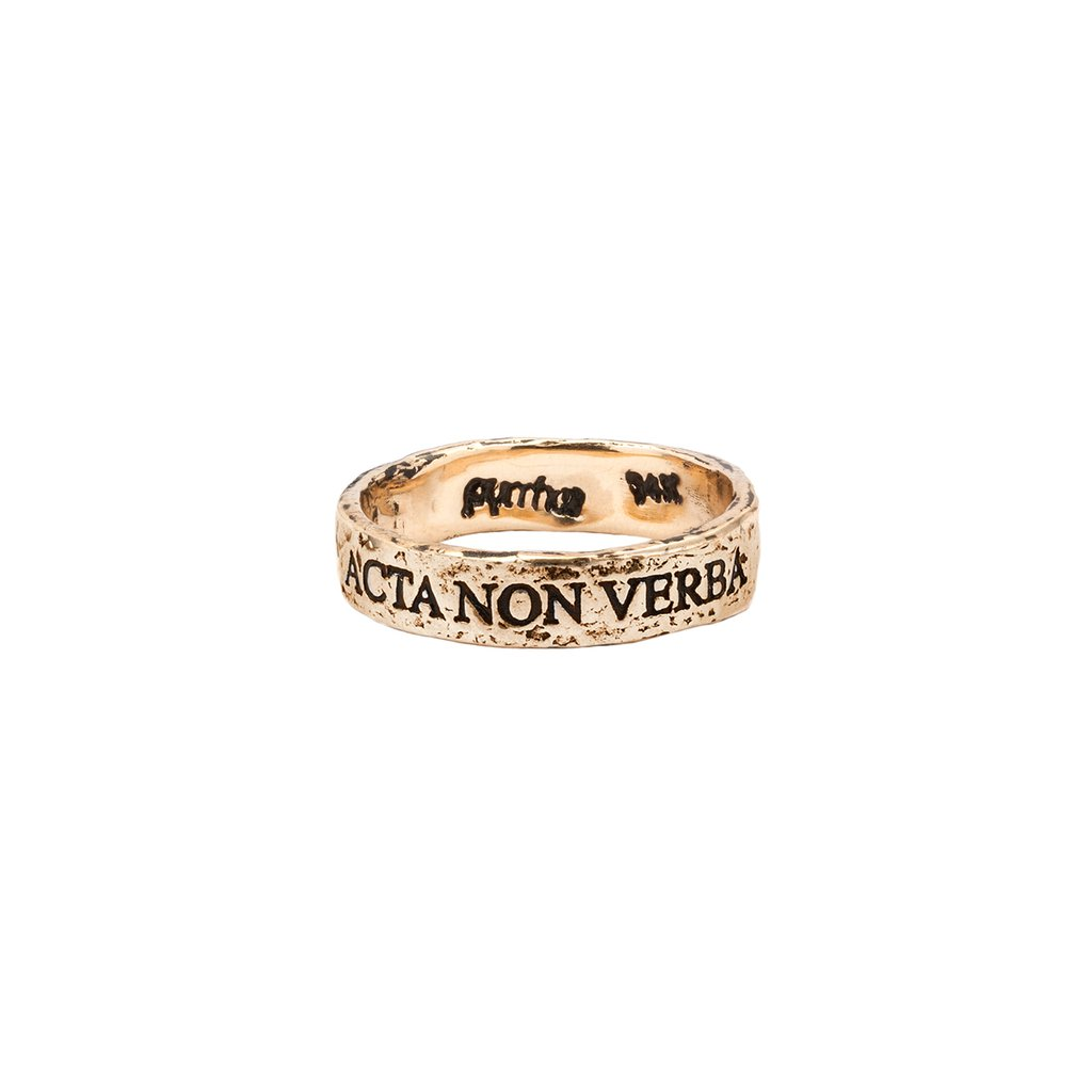 Acta Non Verba 14K Gold Ring | Magpie Jewellery