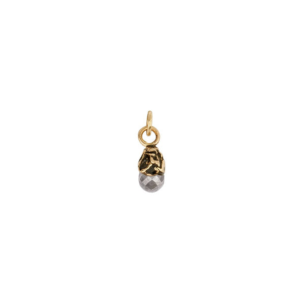 Ashen Rustic Diamond 14K Gold Capped Attraction Charm | Magpie Jewellery