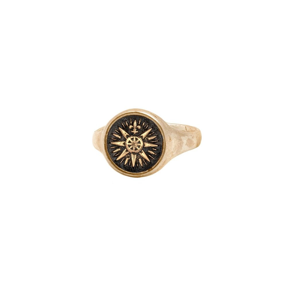 Direction 14K Gold Signet Ring | Magpie Jewellery
