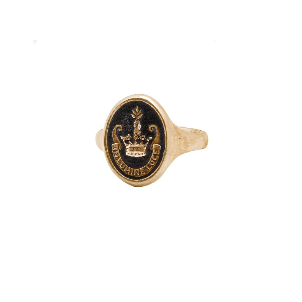 Inspiration 14K Gold Signet Ring | Magpie Jewellery