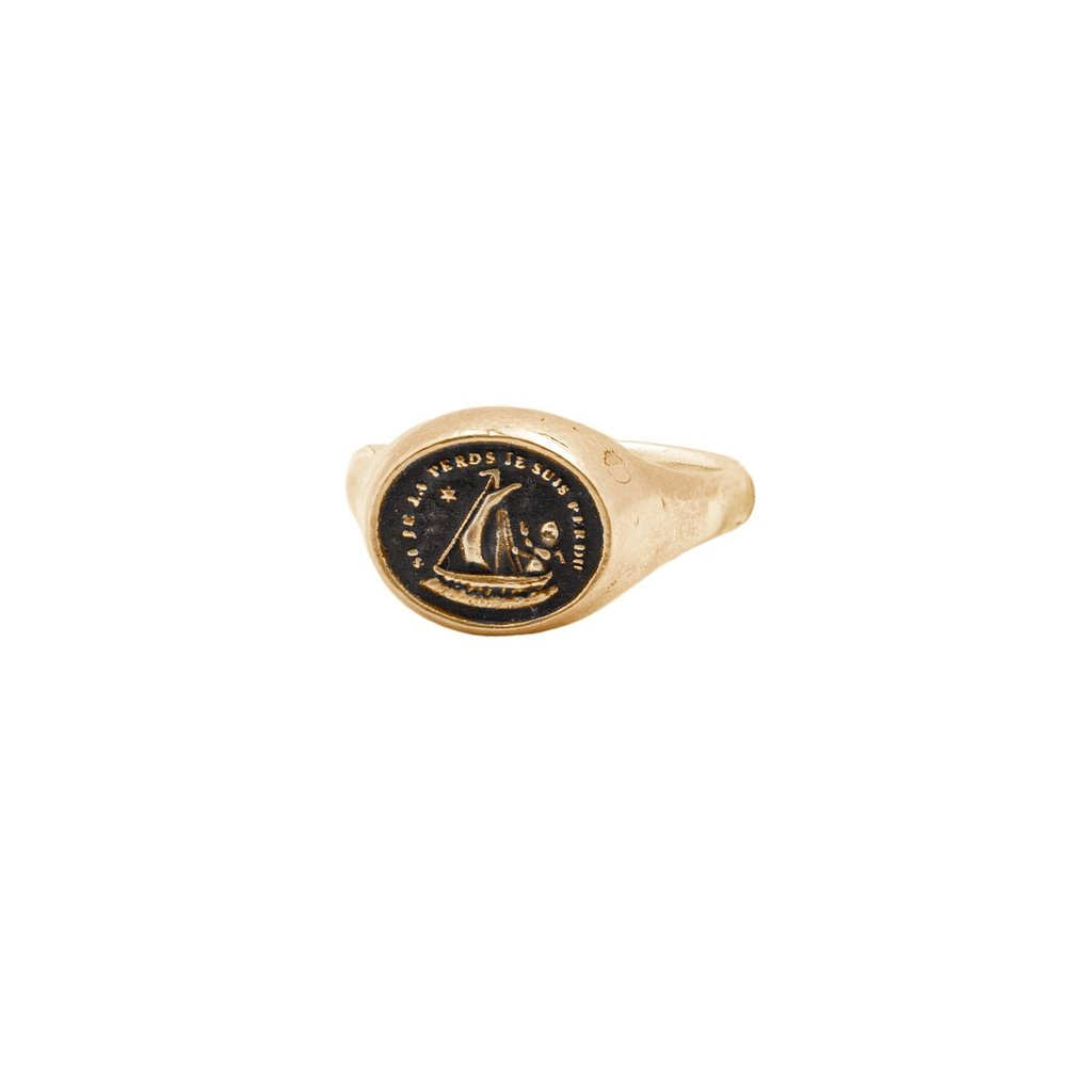 Light My Way 14K Gold Signet Ring | Magpie Jewellery
