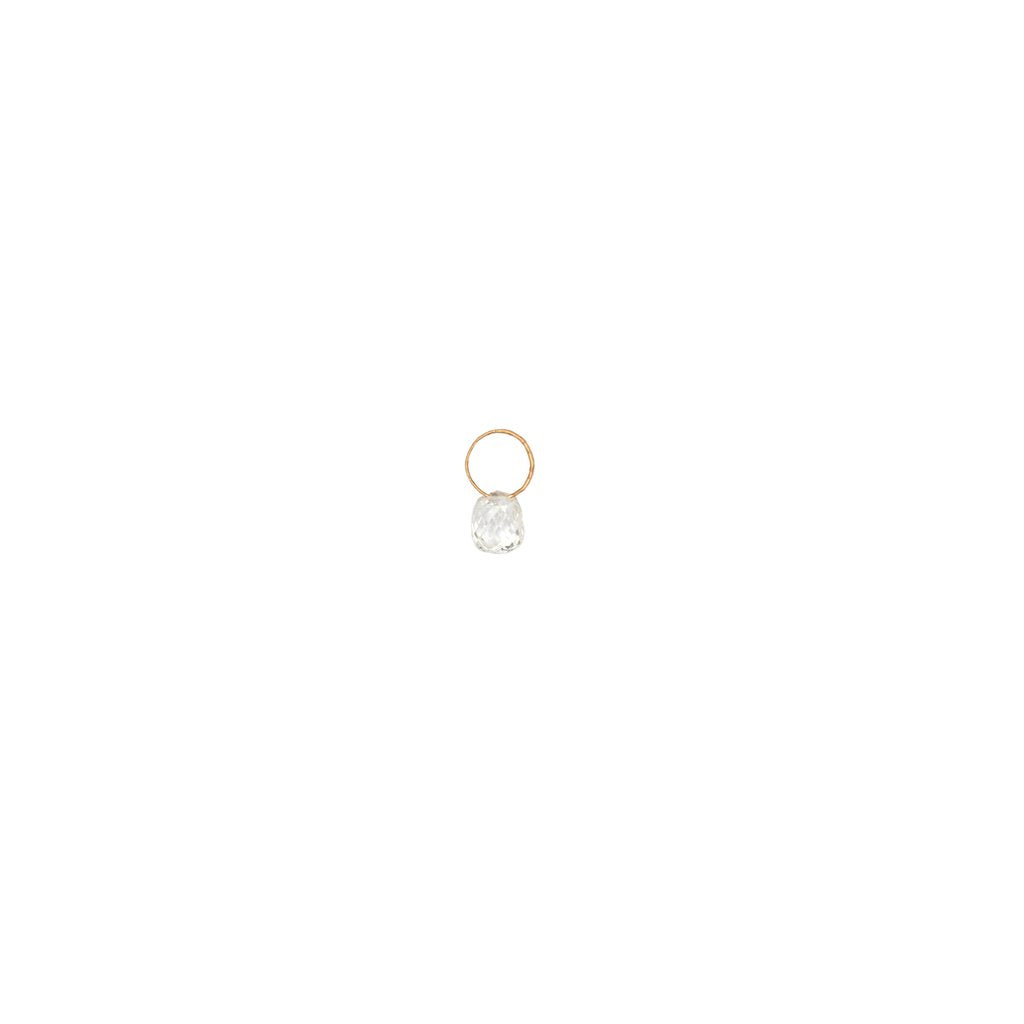 Tiny Diamond 14k Wire Loop Attraction Charm | Magpie Jewellery