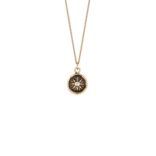 Direction 14k Gold Diamond Set Talisman | Magpie Jewellery