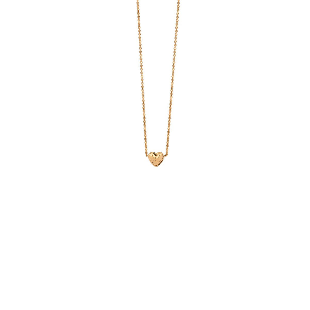 Heart 14k Gold Charm Necklace