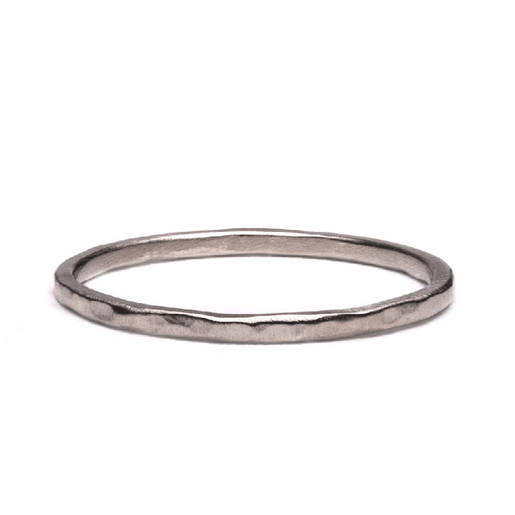 Thin Hammered Band Gold Band | Magpie Jewellery
