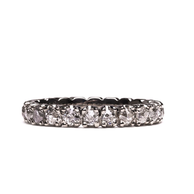 Donz Eternity Band Diamond & Gold Engagement Ring