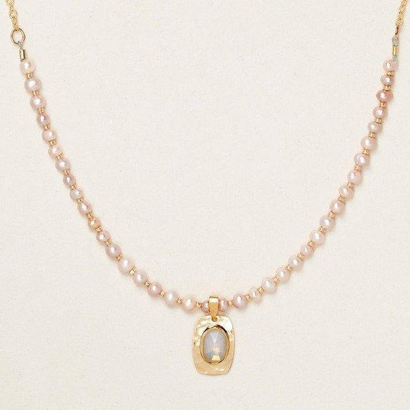 Adelaide Bead Pearl Necklace