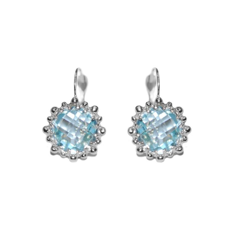 Dew Drop Snowflake Earrings - Blue Topaz & Silver | Magpie Jewellery