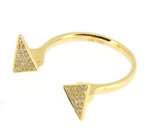 Diamond Open Triangle Ring