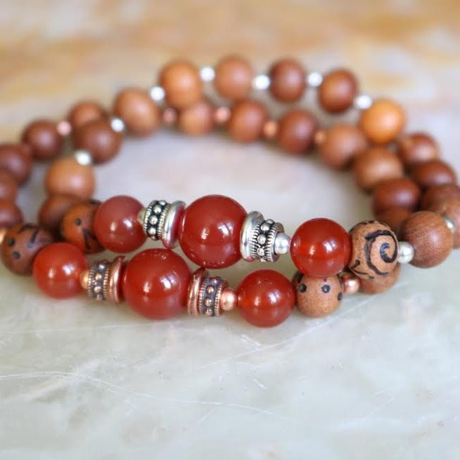Carnelian Intention Bracelet | Magpie Jewellery