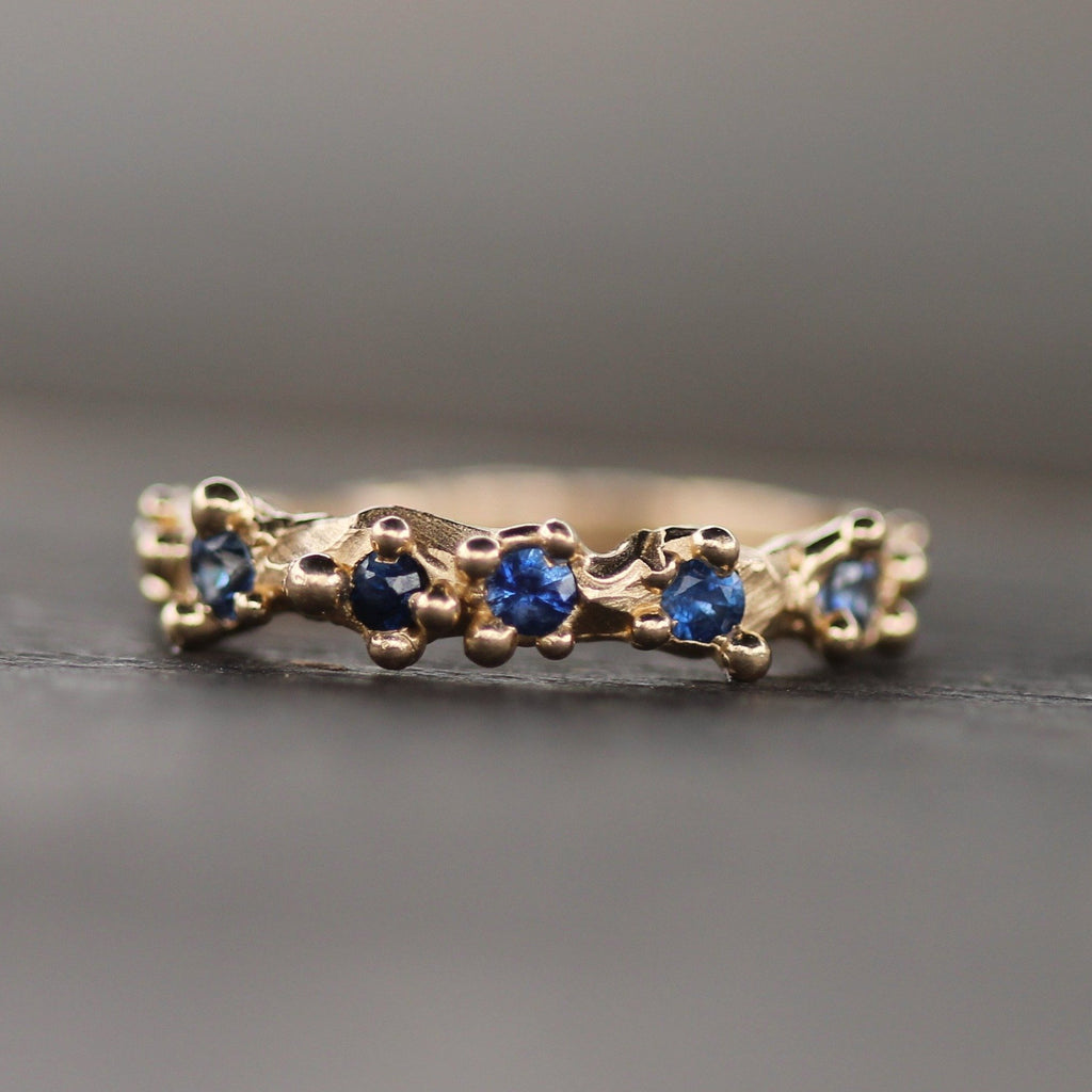 Mermaid Treasure Band with Blue Sapphires
