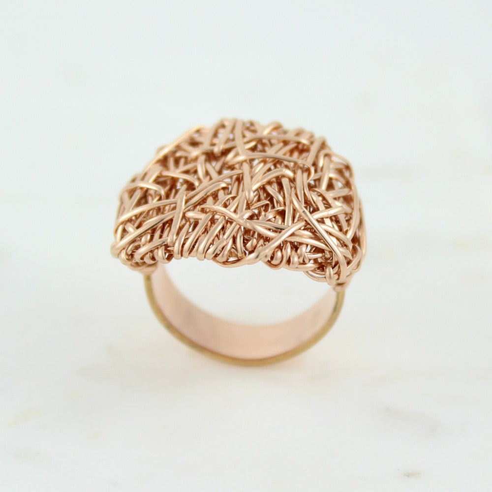 The Big Ring | Magpie Jewellery | Rose Gold | Detail Shot