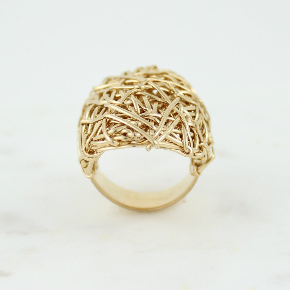 The Big Ring | Magpie Jewellery | Yellow Gold | Detail Shot