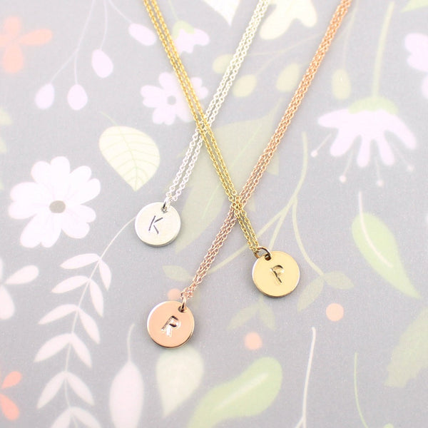 "Monogram Necklace | Magpie Jewellery | SIlver ""K"" 