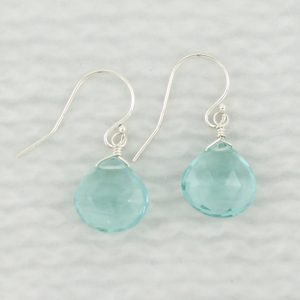 Gemstone Solo Earring | Magpie Jewellery | Silver | Teal Quartz | Faceted