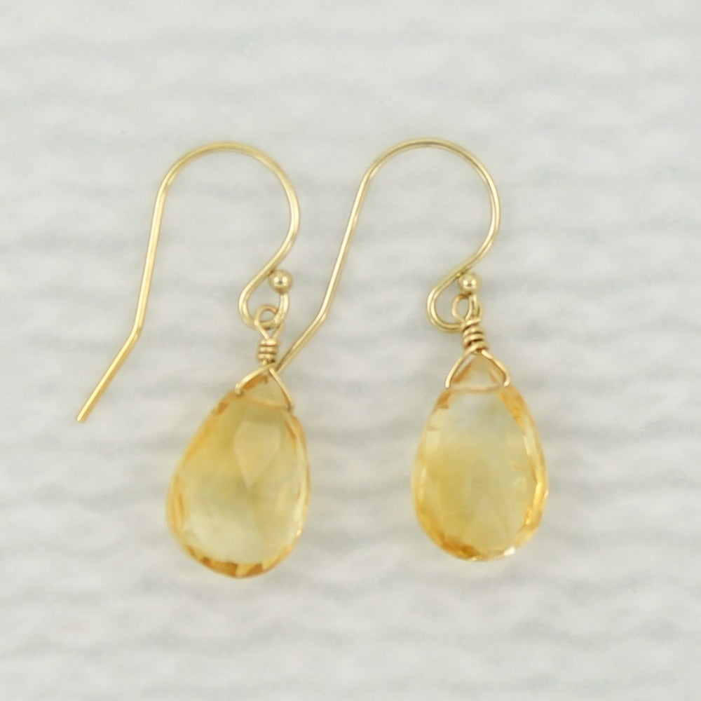 Gemstone Solo Earring | Magpie Jewellery | Yellow Gold | Citrine | Faceted