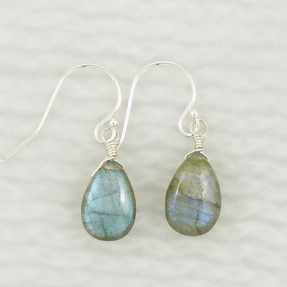 Gemstone Solo Earring | Magpie Jewellery | Silver | Labradorite