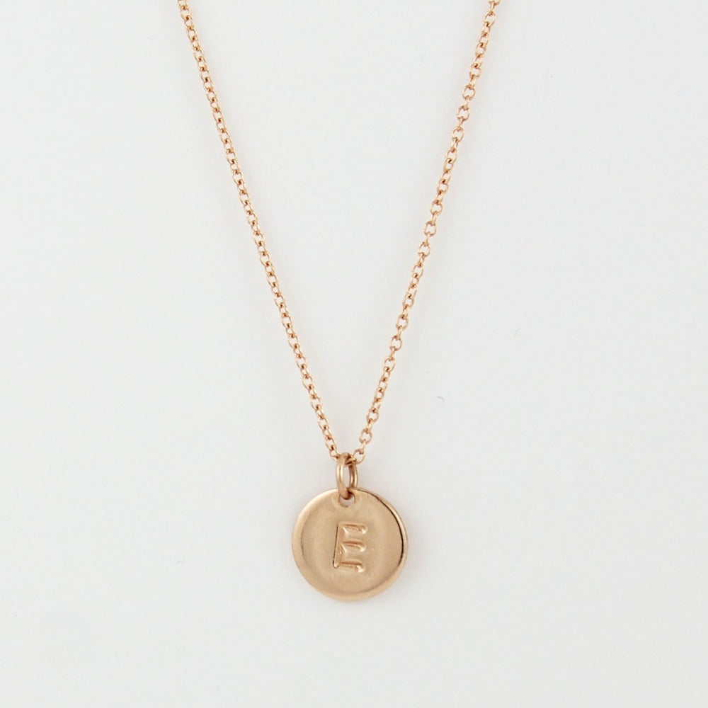 "Monogram Necklace | Magpie Jewellery | Rose Gold ""E"""