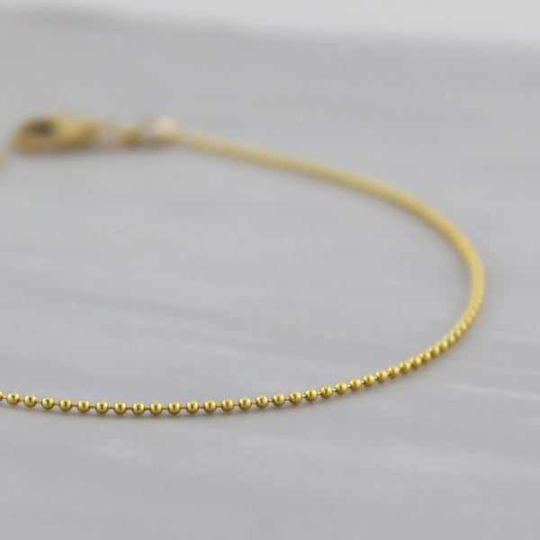 Tiny Ball Chain Bracelet | Magpie Jewellery | Yellow Gold