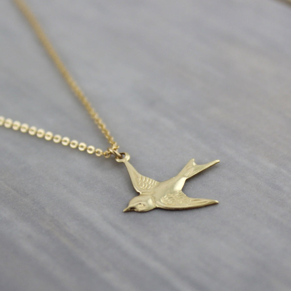 Flying Bird Layering Necklace