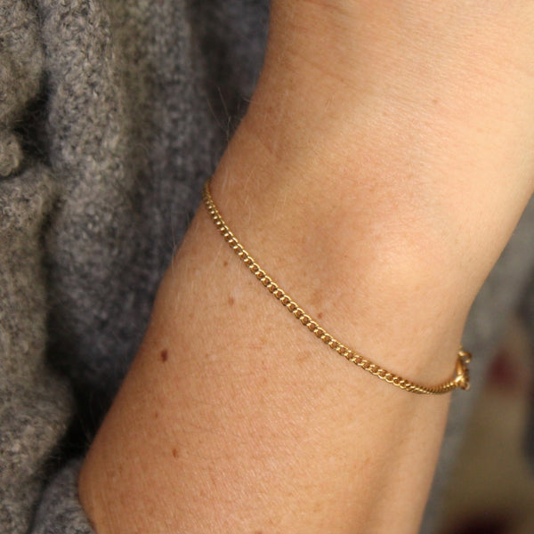 Curb Chain Bracelet | Magpie Jewellery | Yellow Gold | On Model