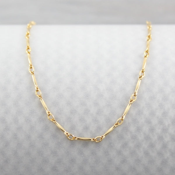 Dapped Bar Chain | Magpie Jewellery | Yellow Gold