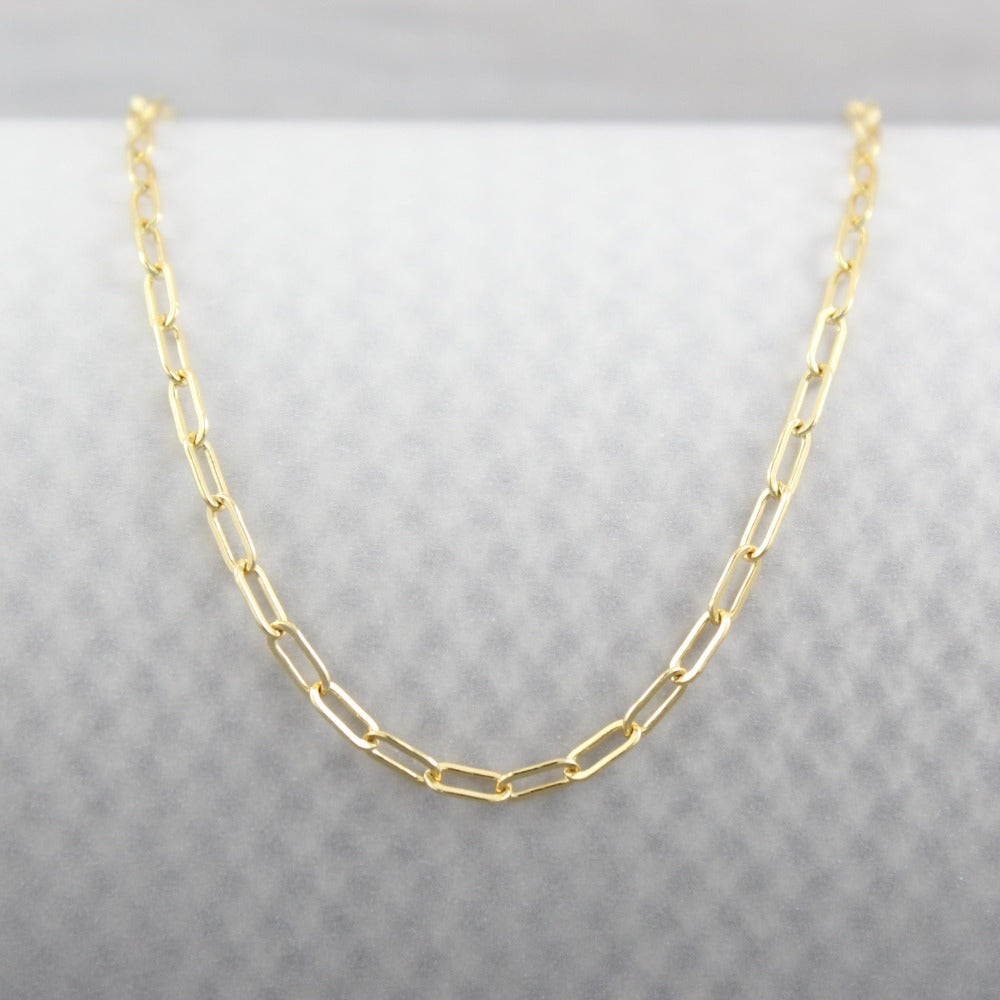 Fine Paperclip Chain | Magpie Jewellery | Yellow Gold