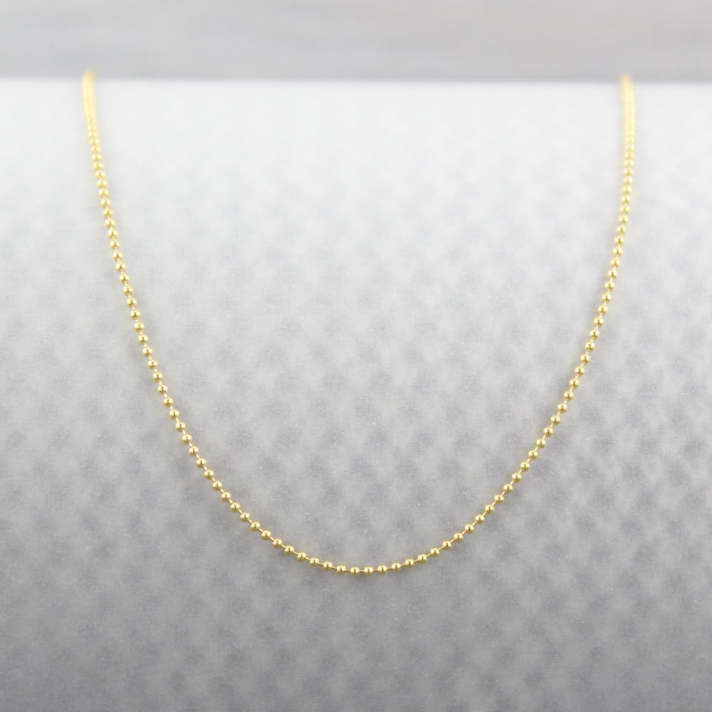 Tiny Ball Chain | Magpie Jewellery | Yellow Gold