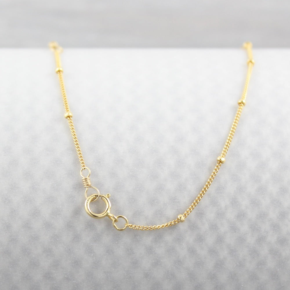 Satellite Chain | Magpie Jewellery | Yellow Gold | Spring Clasp
