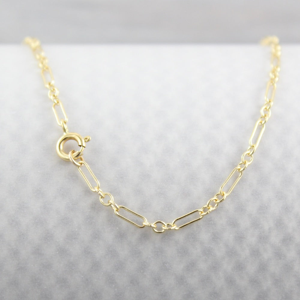 Long & Short Chain | Magpie Jewellery | Yellow Gold | Spring Clasp