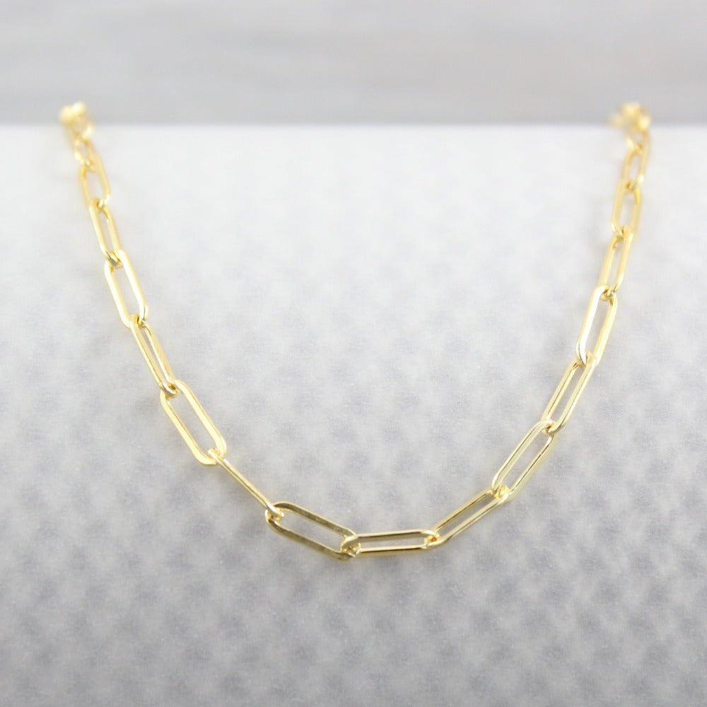 Paperclip Chain Bracelet | Magpie Jewellery | Yellow Gold