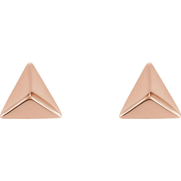 Pyramid Studs - Rose Gold