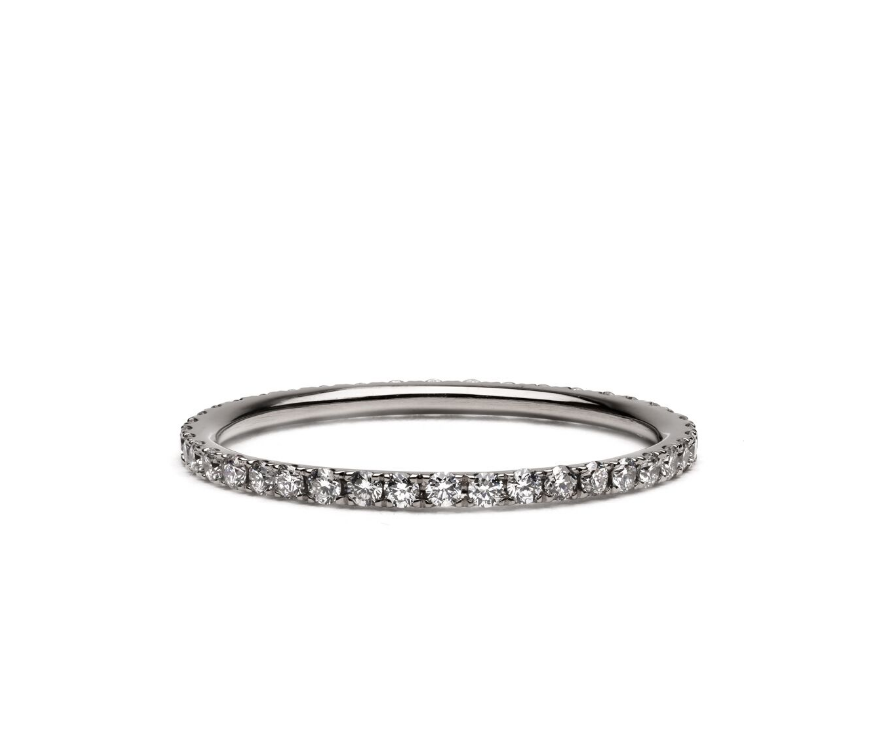 Classic Eternity Diamond & Gold Wedding Band