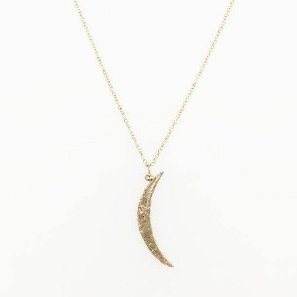 14ky Gold Crescent Moon Necklace
