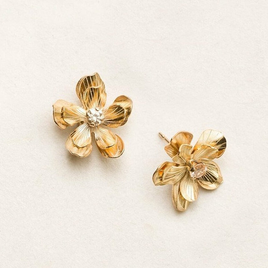 Double Plumeria Post Earrings