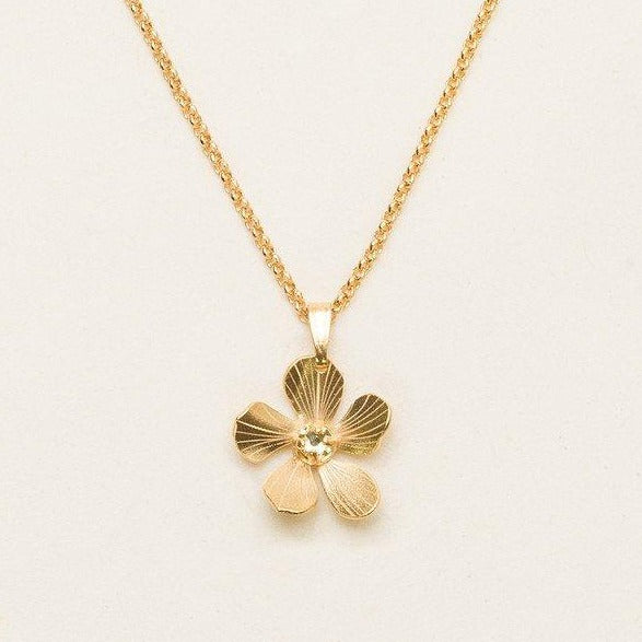 Plumeria Drop Necklace