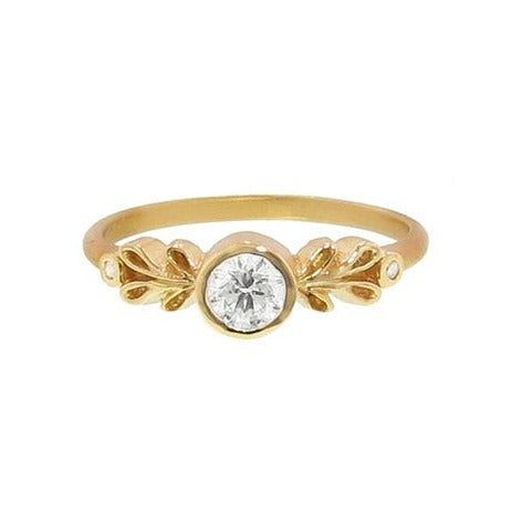 LAUREL BEZEL DIAMOND RING