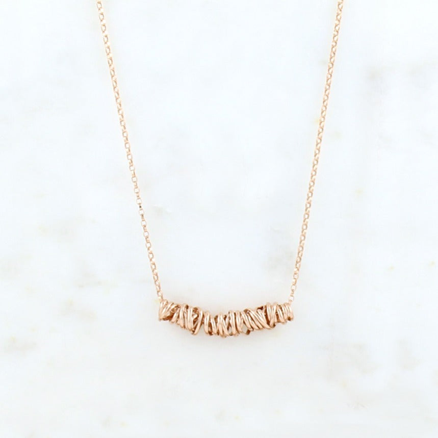 Twist Necklace - Small | Magpie Jewellery | Rose Gold