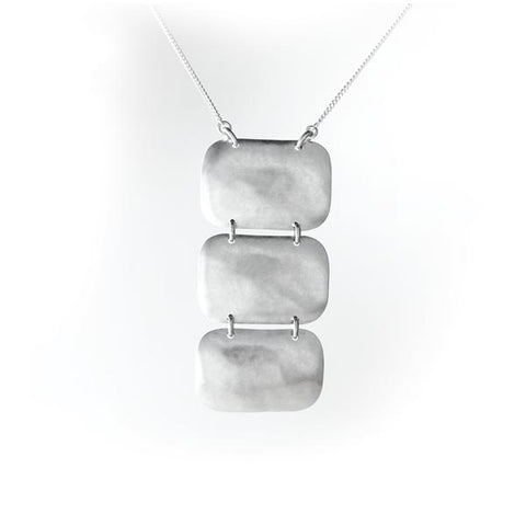 Hammered Sterling Silver Necklace