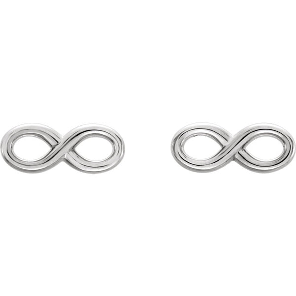 White Gold Infinity Studs